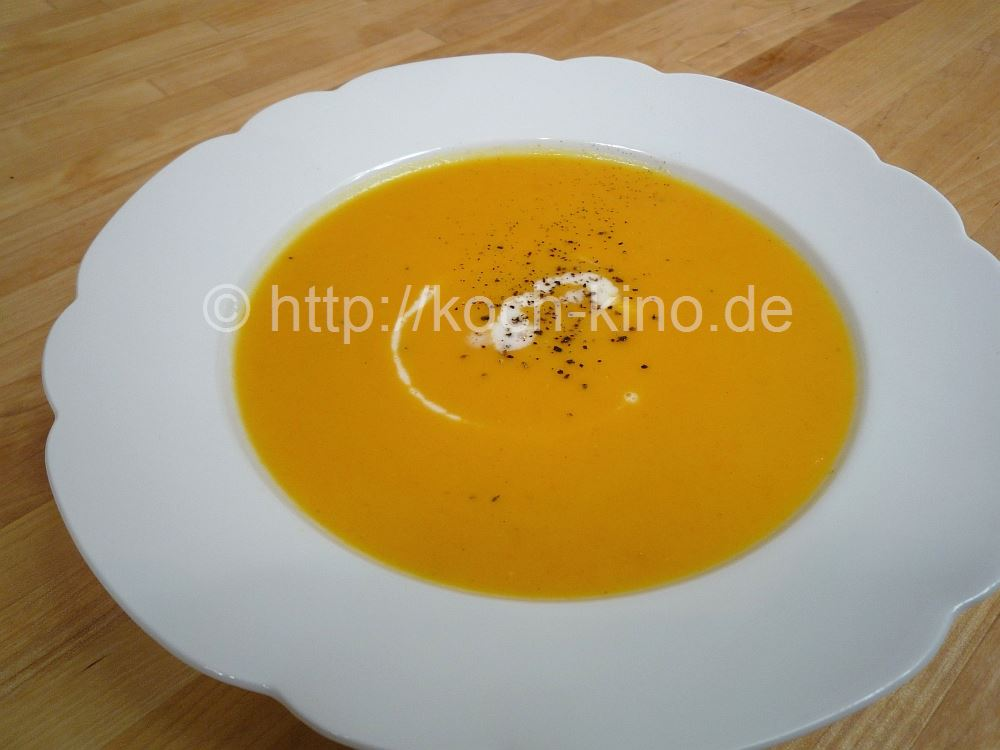 karotten kürbis suppe