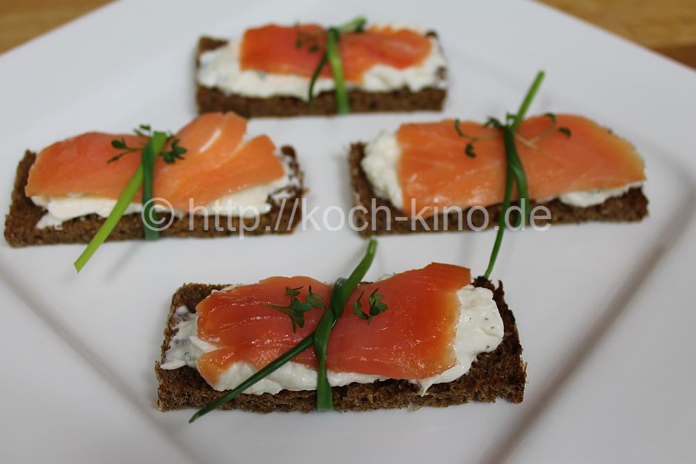rezept party snacks 1 lachs meerrettich h ppchen. Black Bedroom Furniture Sets. Home Design Ideas