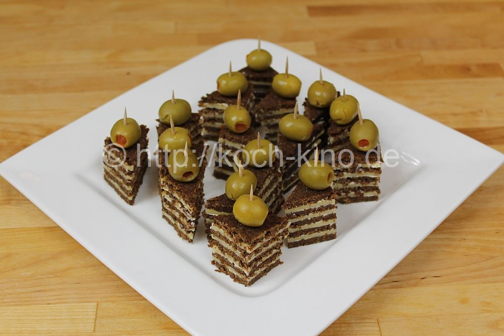 rezept party snacks 2 pumpernickel gouda ecken. Black Bedroom Furniture Sets. Home Design Ideas