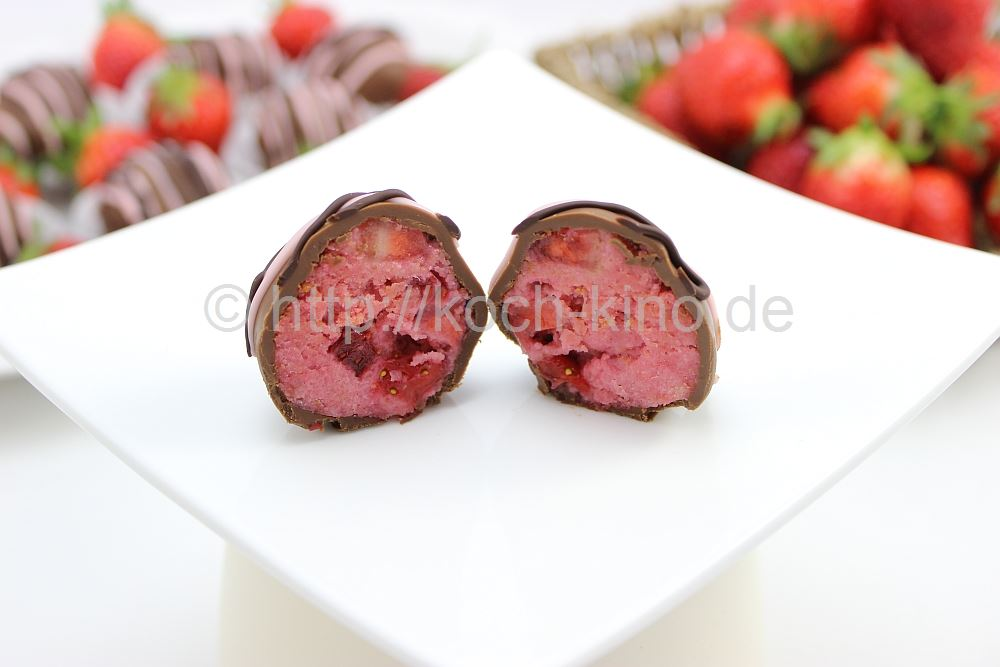 rezept joghurt erdbeer pralinen perfekt zum muttertag. Black Bedroom Furniture Sets. Home Design Ideas