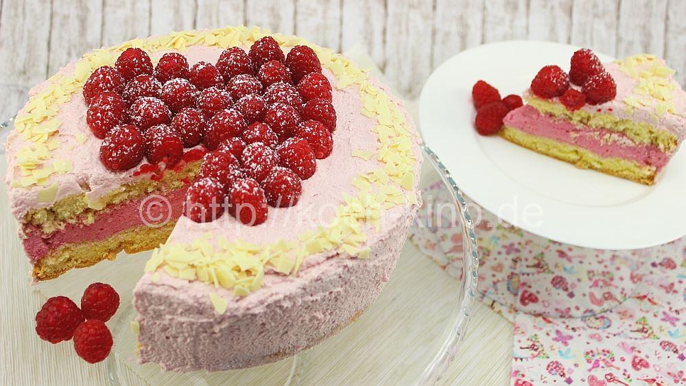 Rezept Himbeer Sahne Torte Mit Schmand