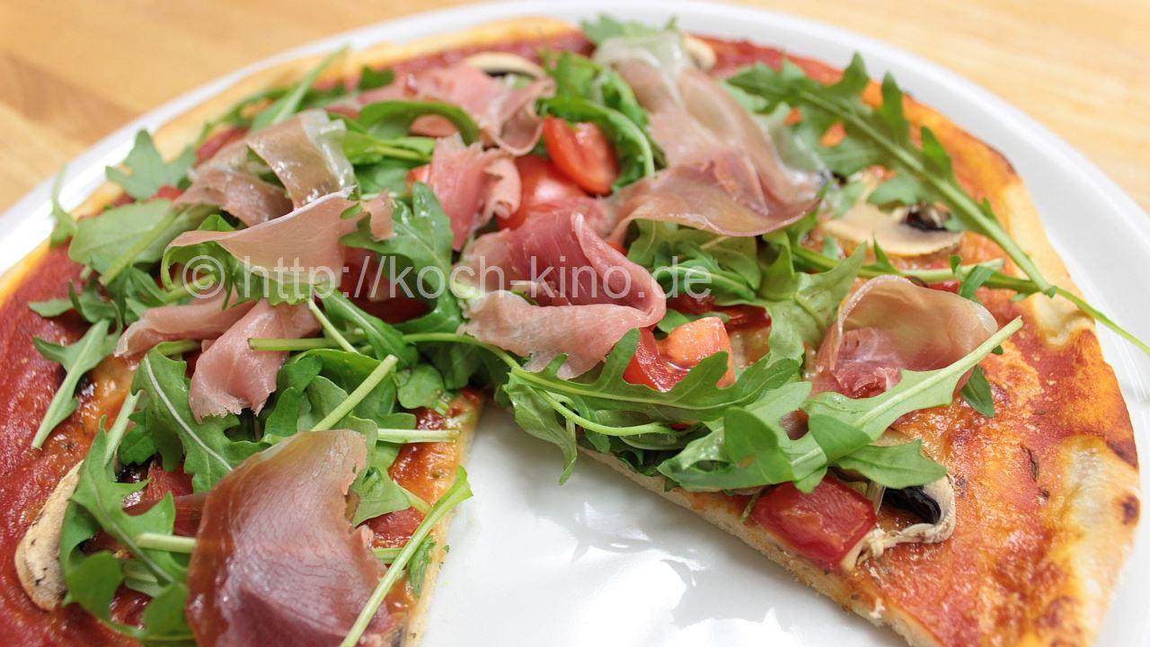 Pizza rezept rucola parmaschinken