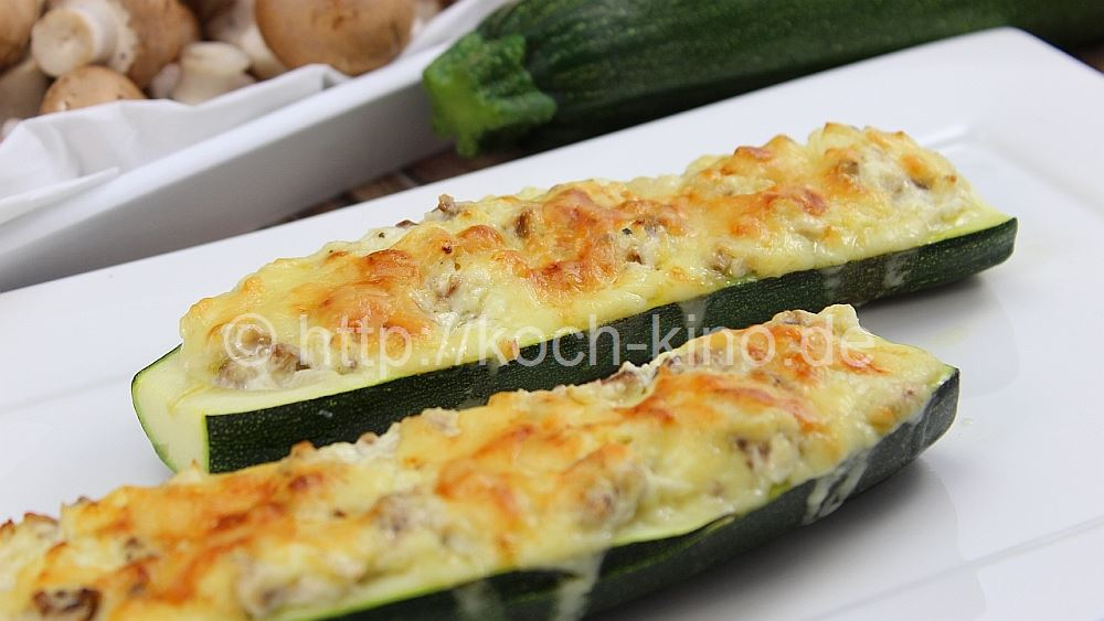 Rezept mit hackfleisch zucchini und champignons
