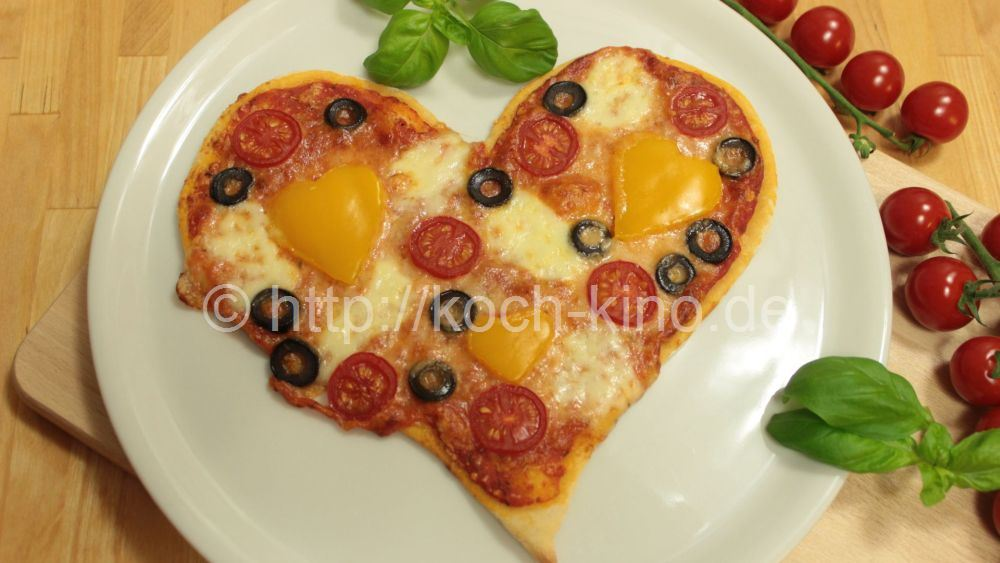 Rezept Pizza Herz Zum Valentinstag Pizzateig Pizzasauce