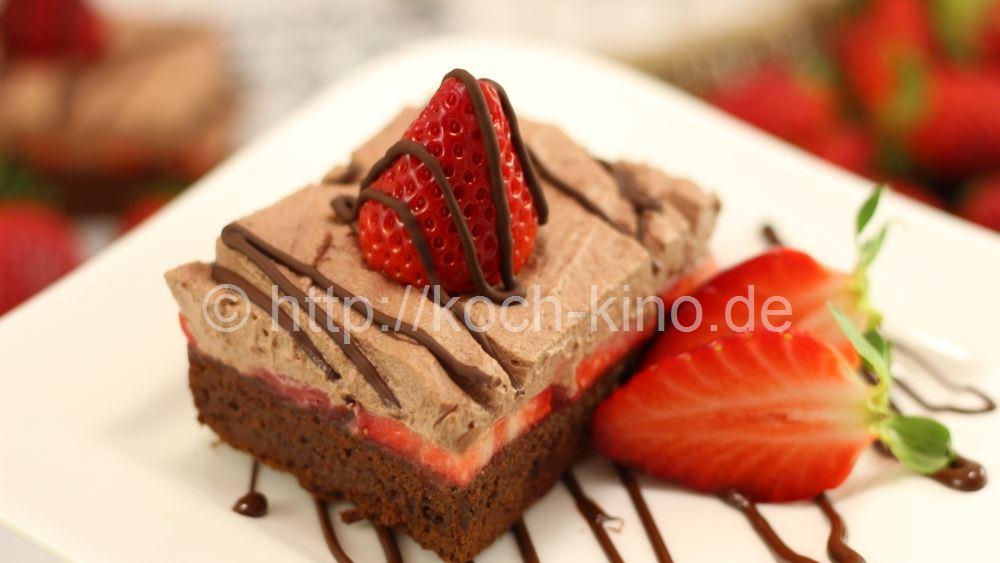 rezept erdbeer brownies fruchtig schokoladige brownies. Black Bedroom Furniture Sets. Home Design Ideas