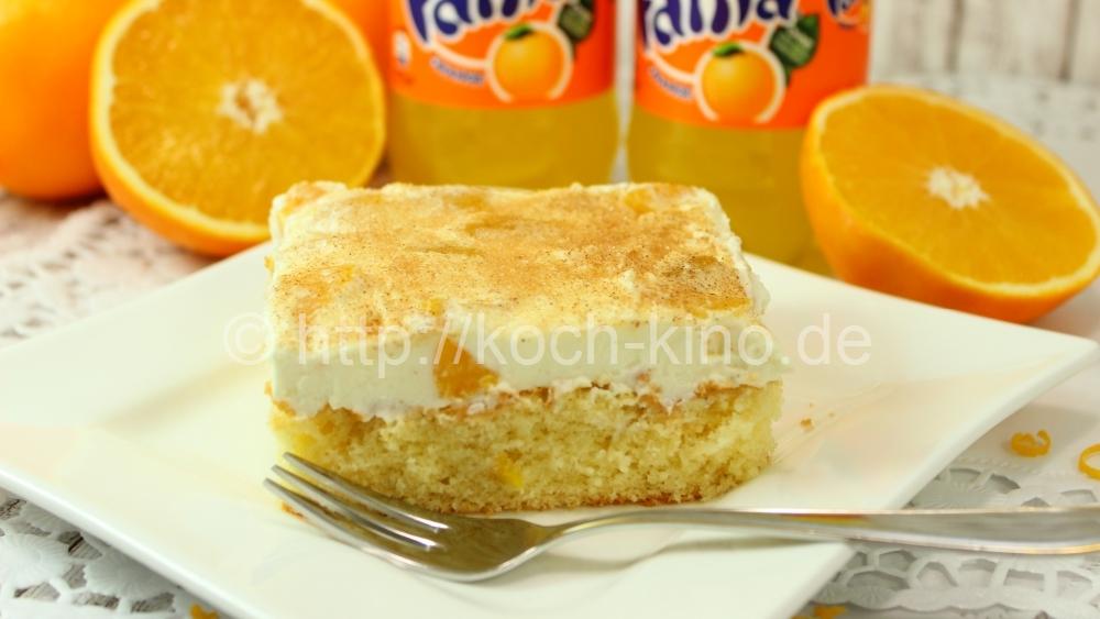 Rezept Fantakuchen Mit Fruchtiger Schmand Creme Zimt Blechkuchen