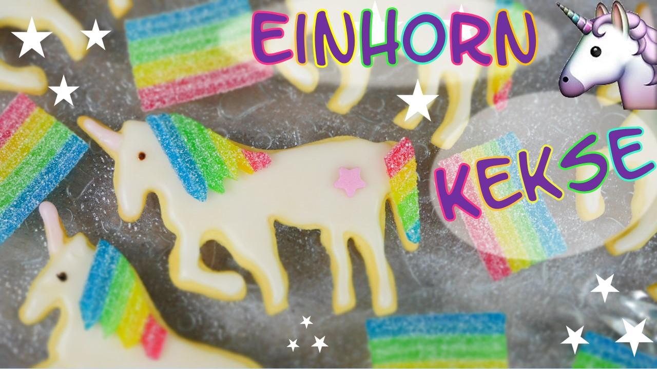 Rezept Einhorn Kekse Mit Regenbogen Mahne