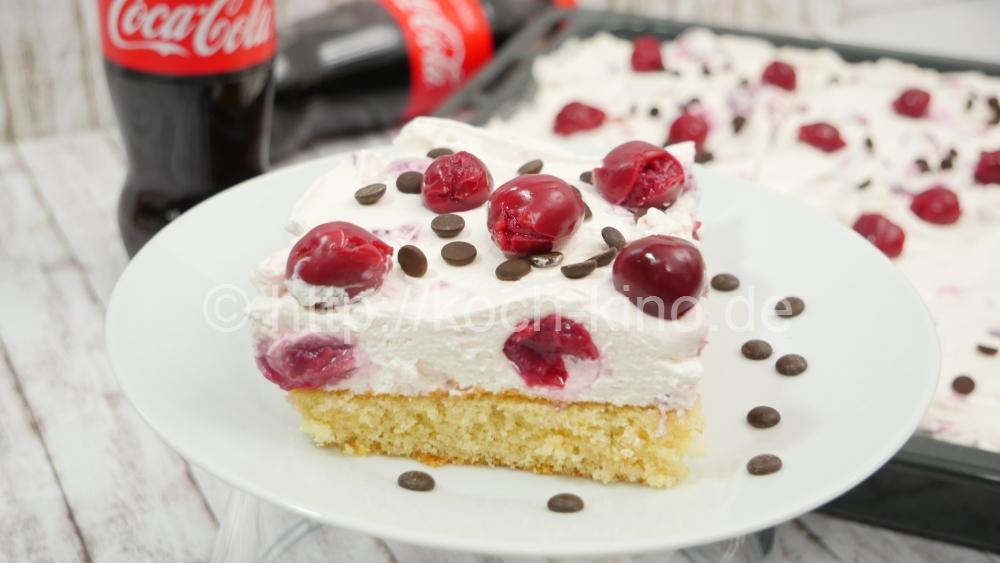 Rezept Coca Cola Kuchen Mit Kirschen I Limo Kuchen