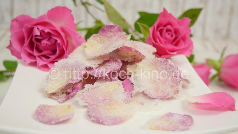 kandierte rosenblätter
