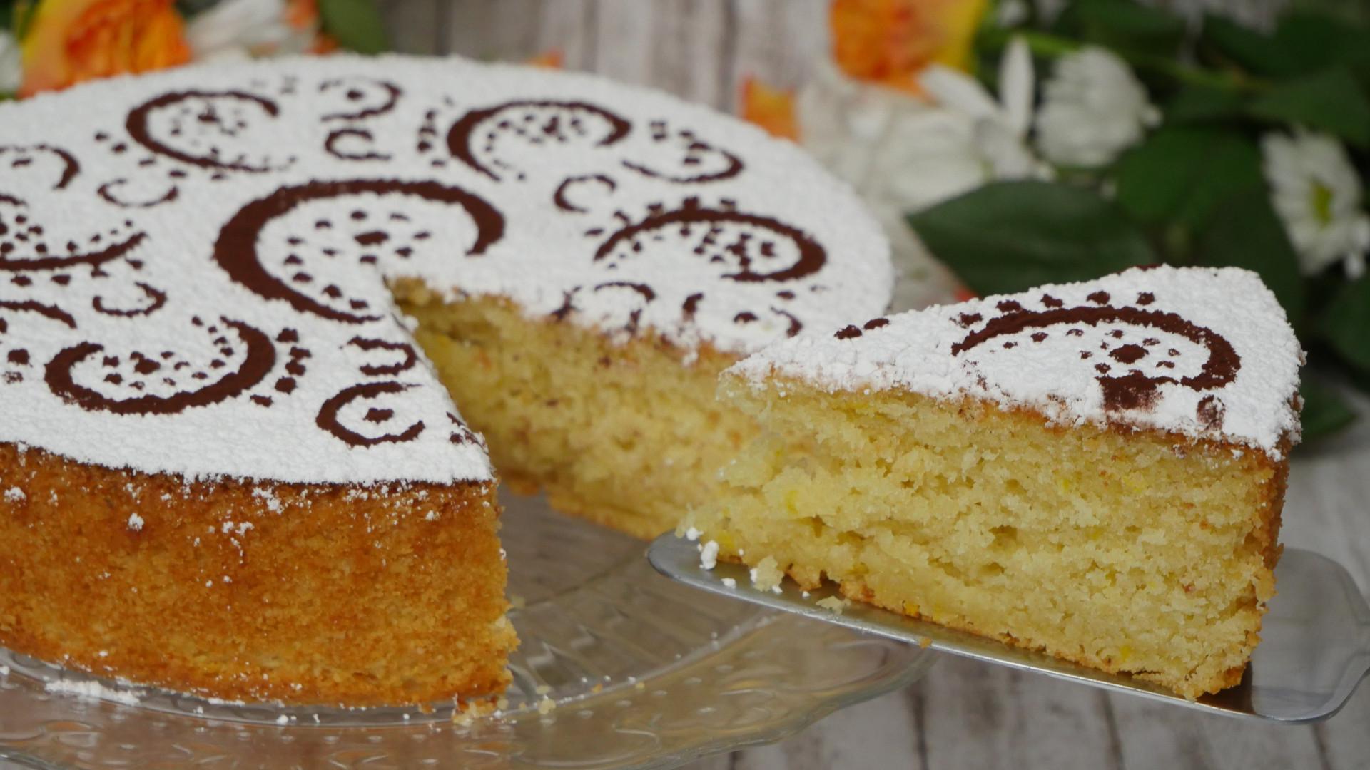 Rezept Italienische Mandeltorte Mit Joghurt Und Zitrone I Torta Di