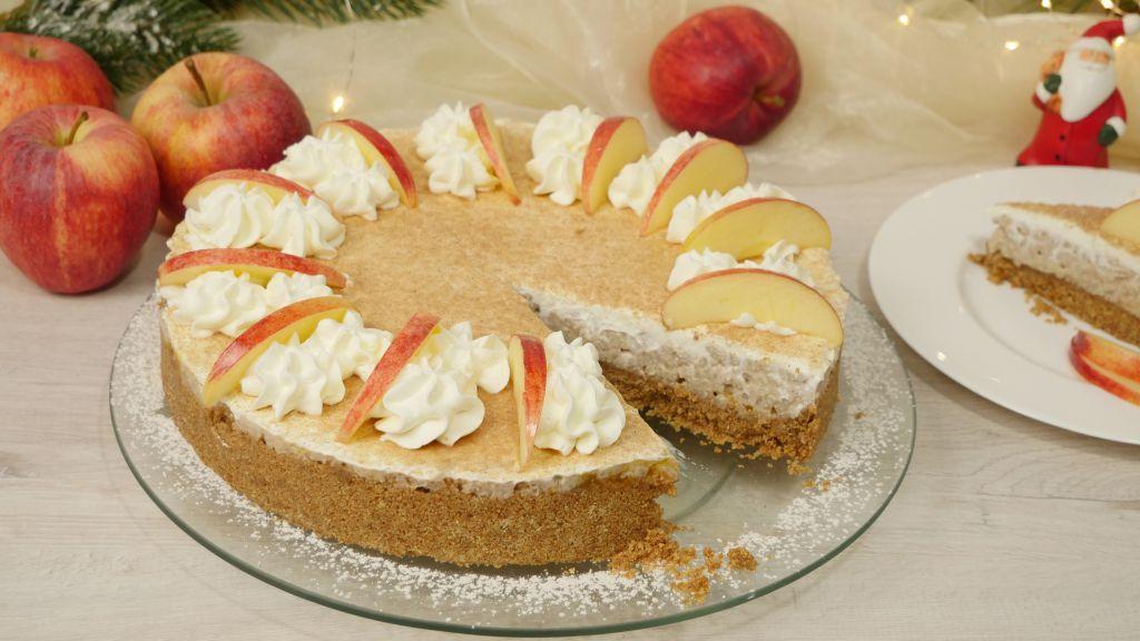 Bild einer angeschnittenen Milchreis-Torte