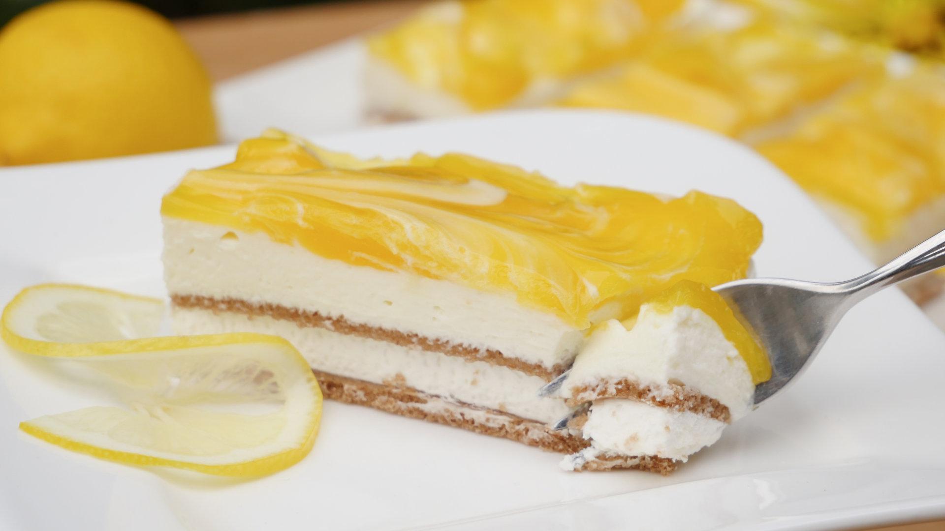 Rezept Zitronen Schnitten Mit Joghurtcreme Kuchen Ohne Backen