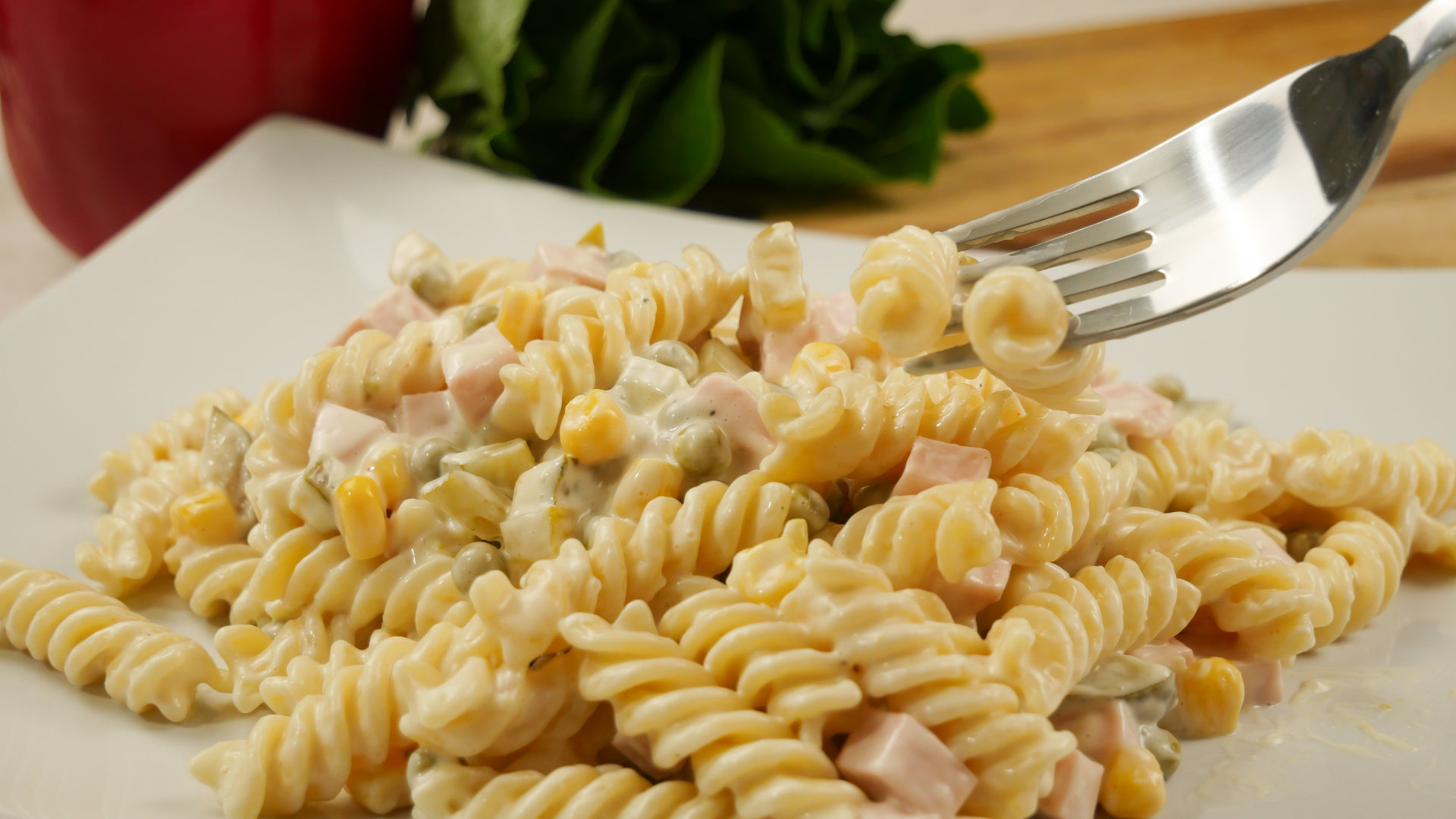 Rezept Mamas Weltbester Nudelsalat Nudelsalat Mit Mayonnaise