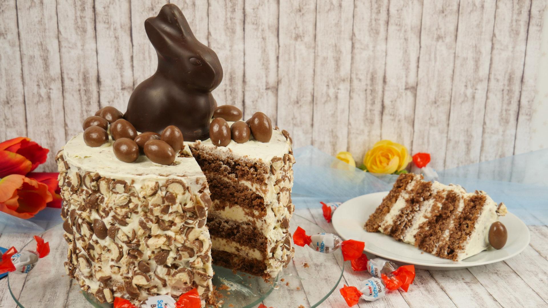 Rezept Kinder Schoko Bon Torte Rezept Ostertorte Schokoladentorte