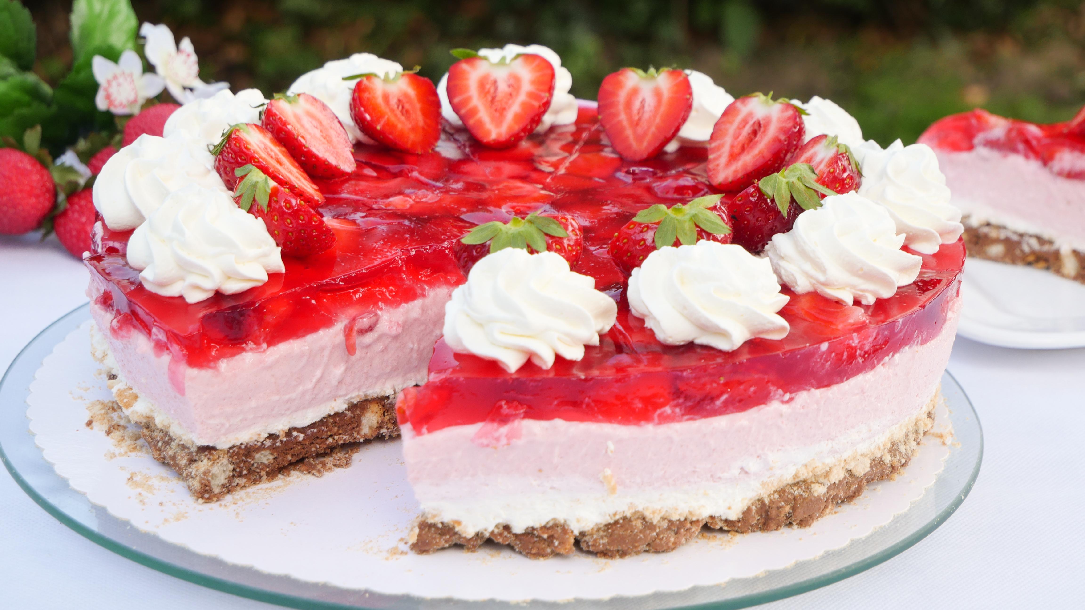 Erdbeer yogurette torte ohne gelatine