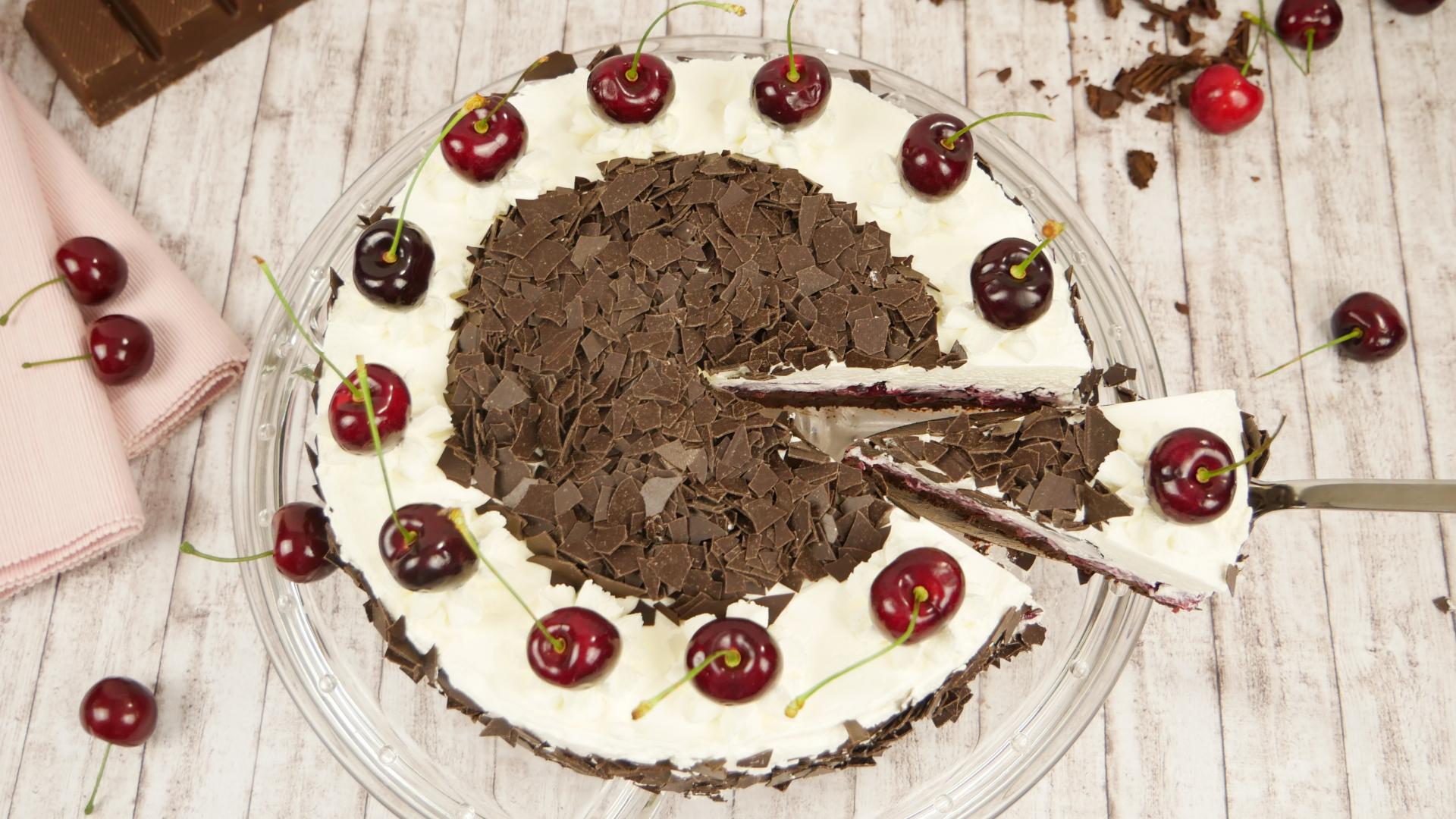 Rezept Schwarzwälder Kirsch Torte Ohne Backen No Bake Cake